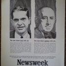 Newsweek Ad Vintage 1964 Joseph B Cumming Jr Raymond Moley