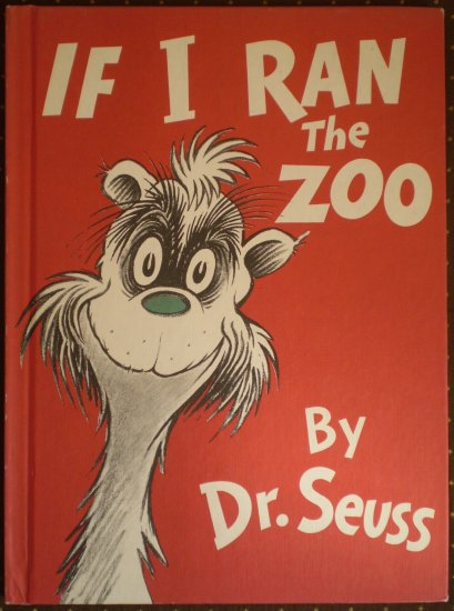 If I Ran The Zoo Dr Seuss HB 1978 BCE Random House