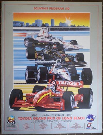 1999 Toyota Grand Prix Long Beach 25 Anniversary Souvenir Program