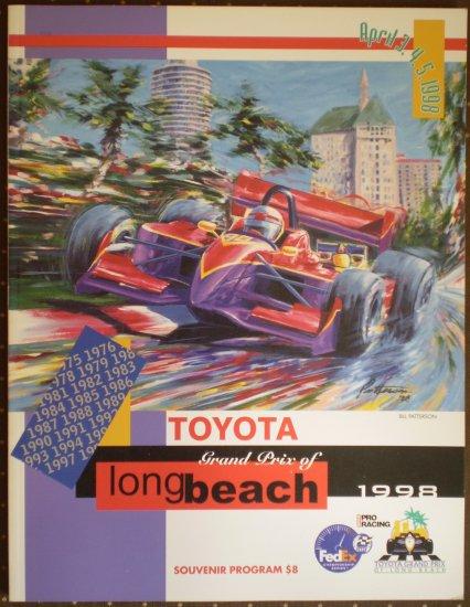 1998 Toyota Grand Prix Long Beach Souvenir Program