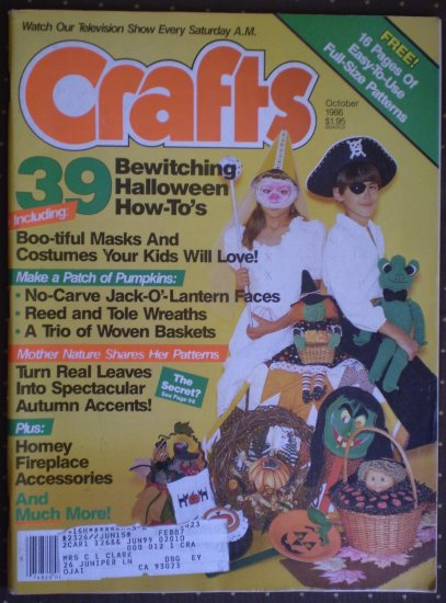 Lot 6 Crafts Magazine 1985 1986 1983 1984 PJS Publications