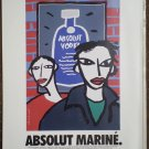 Absolut Vodka Ad lot Rodrigue Warhol Le Cocq Britto Marine 1995