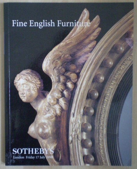 Fine English Furniture Sotheby 17 July 1998 Catalog LN8447 8447