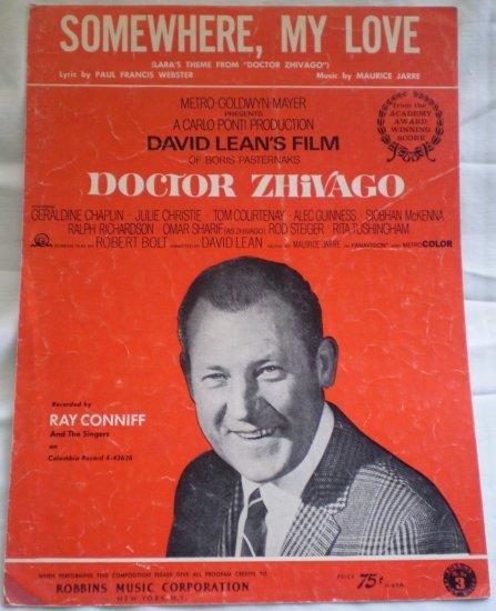 Somewhere My Love Sheet Music Doctor Zhivago Maurice Jarre Webster
