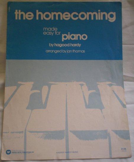 The Homecoming Easy Sheet Music Piano Hagood Hardy Jan Thomas 1976