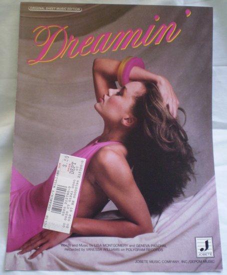 Dreamin' Sheet Music Lisa Montgomery Geneva Paschal 1986 Jobete