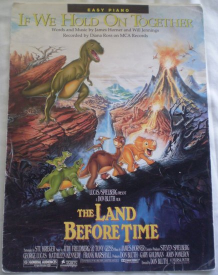 If We Hold On Together Sheet Music Land Before Time Horner Jennings Easy Piano