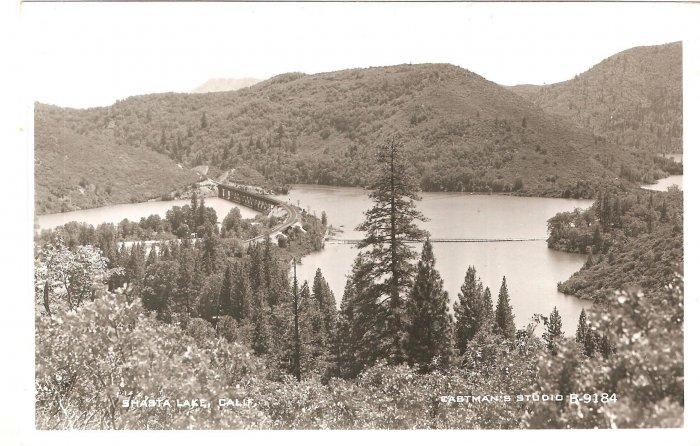 Shasta Lake CA Eastman Studio B-9184 RPPC vintage postcard