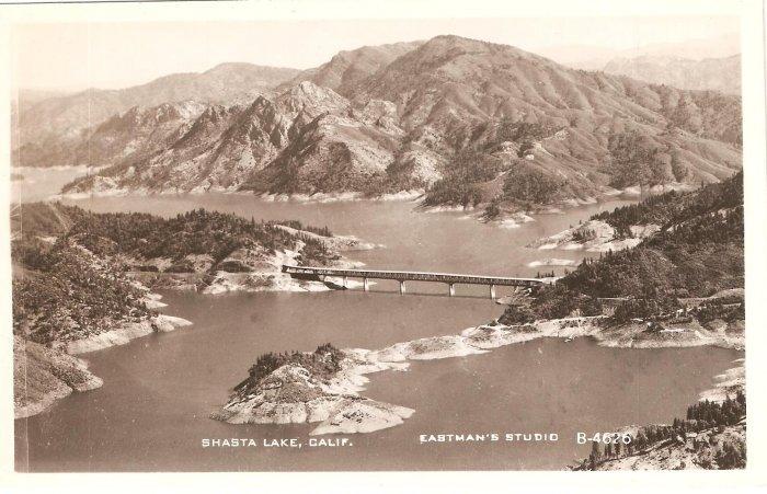 Shasta Lake CA Eastman Studio B-4626 RPPC vintage postcard