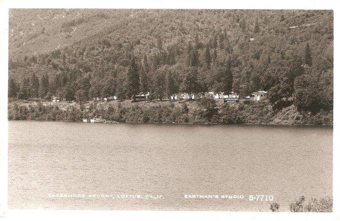 Lakeshore Resort Loftus CA Eastman Studio B-7710 RPPC vintage postcard