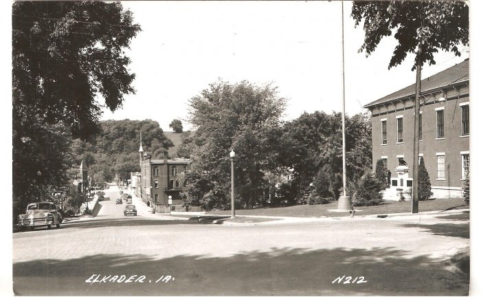 Elkader IA N212 Iowa LL Cook RPPC vintage postcard