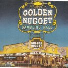 Golden Nugget Gambling Hall Las Vegas Casino NV vintage postcard