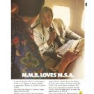MMB Loves MSA Vintage Ad 1971 Malaysia Singapore Airlines Melvin M Belli