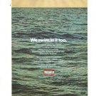 Texaco Gasoline We Swim In It Too Vintage Ad 1971 Ocean Pollution