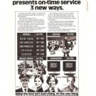 TWA Present on time Service 1977 Vintage Ad Airlines