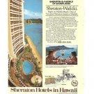 Sheraton Hotels Hawaii Waikiki 1977 Vintage Ad