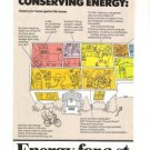 Exxon Conserving Energy 1977 Vintage Ad 2-page