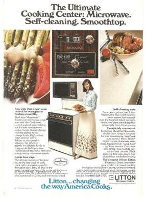 Litton Microwave Oven Vari-Cook Micromatic 1977 Vintage Ad