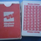 Vintage Western Airlines Playing Cards Plastic Coated Stancraft Kent