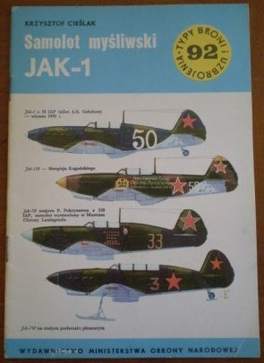 Samolot Mysliwski Jak 1 Krzysztof Cieslak Book Typy Broni 92
