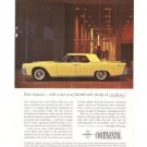 Lincoln Continental Ford Yellow Car Vintage Ad 1961