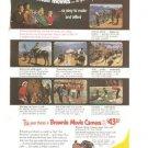 Kodak Brownie Movie Camera Vacation Vintage Ad 1952