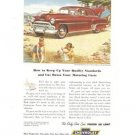 Chevrolet Styleline DeLuxe 2-door Sedan Regal maroon Vintage Ad 1952