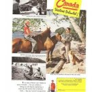 Canada Vacations Coupon Government Travel Bureau Vintage Ad 1952
