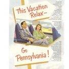 Pennsylvania Railroad Train  Vintage Ad 1952
