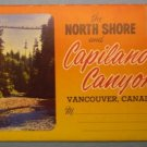 North Shore Capilano Canyon Vancouver Canada Souvenir Folder Photographs
