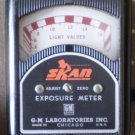Vintage Skan Exposure Meter in Leather Case G-M Laboratories