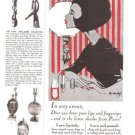 Christian Dior CD Lipsticks Nail Enamel 1966 Vintage Ad