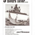 Air Afrique Fishing 5 Hours Later Vintage Ad 1967