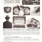Triumph 2000 Car 1965 Vintage Ad French