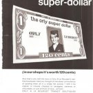Orly Airport Tax Free Shops Super Dollar 1968 Vintage Ad