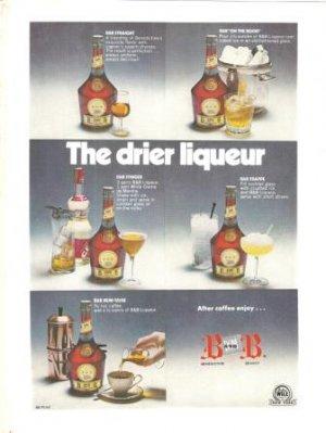 Benedictine Brandy B&B Vintage Ad 1972