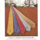 Countess Mara Fashionberry Silk Ties Vintage Ad 1972