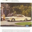 Lincoln Continental Ford Coupe Car Vintage Ad 1966