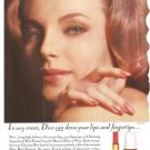 Christian Dior Lipstick Nail Enamel Vintage Ad 1966 CD