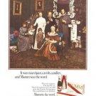 Mumm Champagne Marzipan Carols Candles Vintage Ad 1966