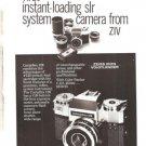 Contaflex 126 Zeiss Ikon Voigtlander Camera ZIV Vintage Ad 1968