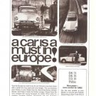 Citroen A Car is a Must in Europe Vintage Ad 1965
