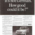 Renault 10 It's Not German Vintage Ad 1967