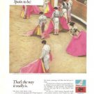 Spain Bullfighters Toro Vintage Ad 1967 Spanish National Tourist Office