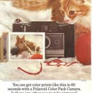 Polaroid Color Pack Camera Cat Kitten Automatic 100 Vintage Ad 1966
