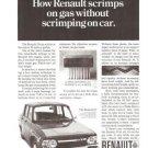 Renault 10 Scrimps on Gas Vintage Ad 1968