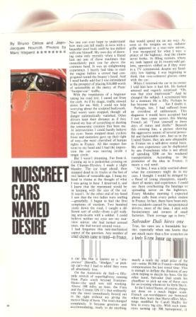 Indiscreet Cars Named Desire 9p Article 1967 Bruno Celice Jean Jacques Hourcle