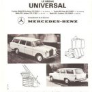Mercedes Benz 200 230 MB French Vintage Ad 1966