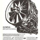 Olympus Engines Concorde Motors French Vintage Ad 1966
