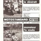 Motostandard Tractor French Vintage Ad 1966